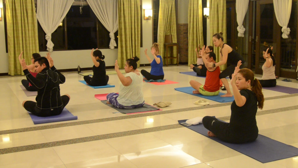 Yoga session at Siena Park Residences. Photo courtesy of DMCI Homes