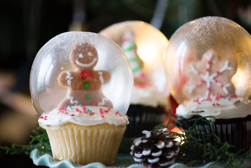 christmas decor edible snowglobes