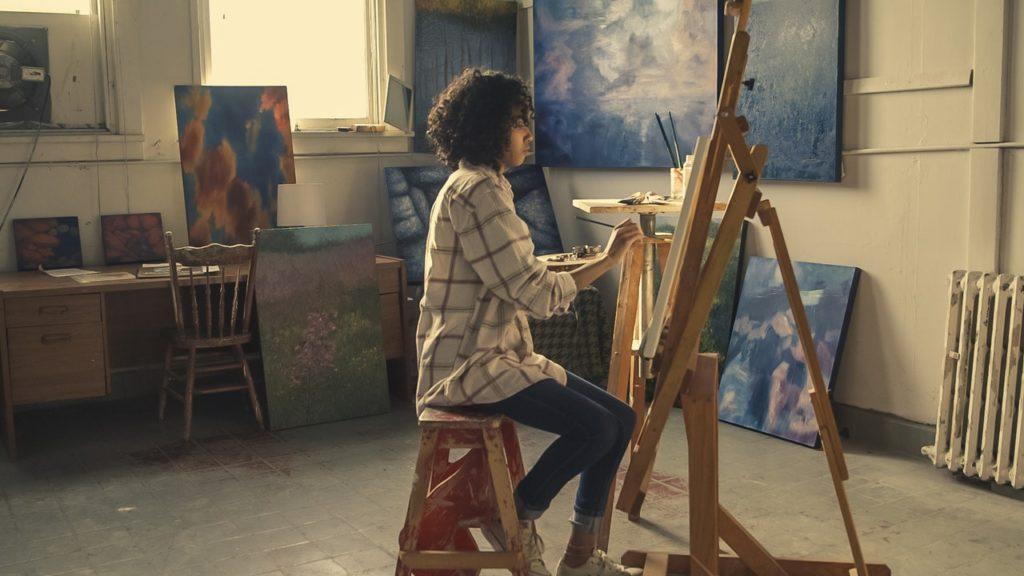 artist painting artwork