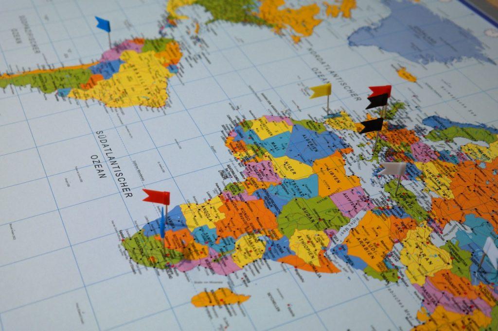 travel goals map