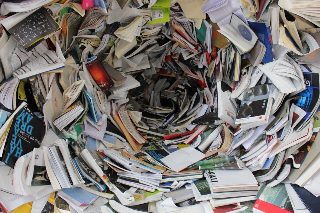 disorganized books