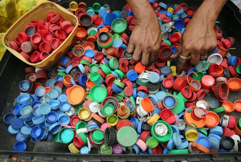 plastic bottles caps