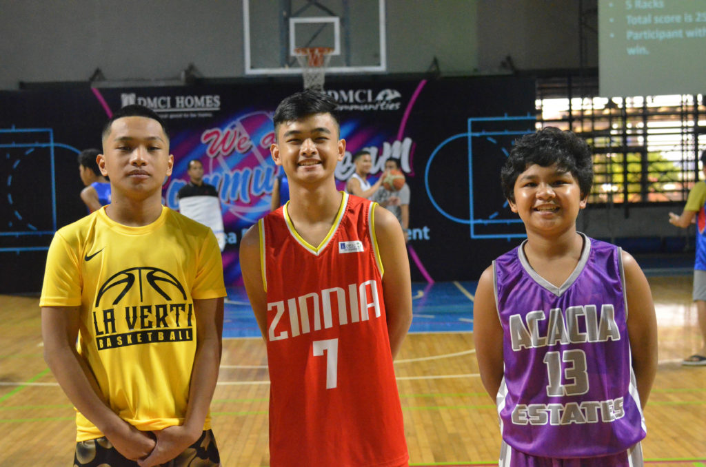 3-point shootout contenders from the junior league.