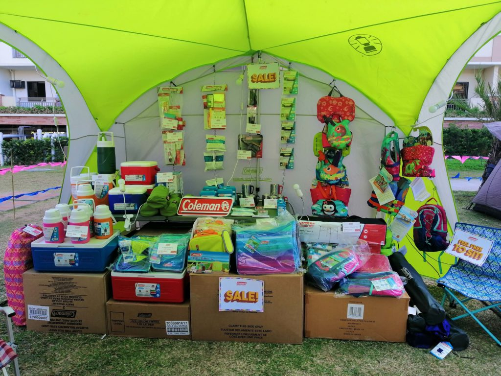 Ever wanted a head start on camping? Here are some of the camping goods on sale at the event.