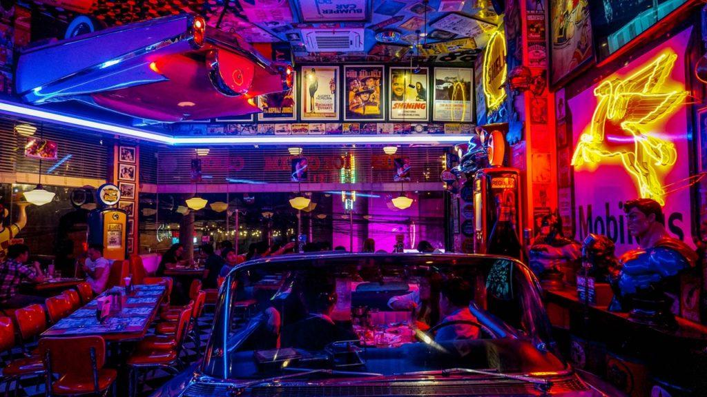 art bar evening