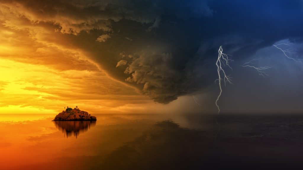 clouds dawn dramatic