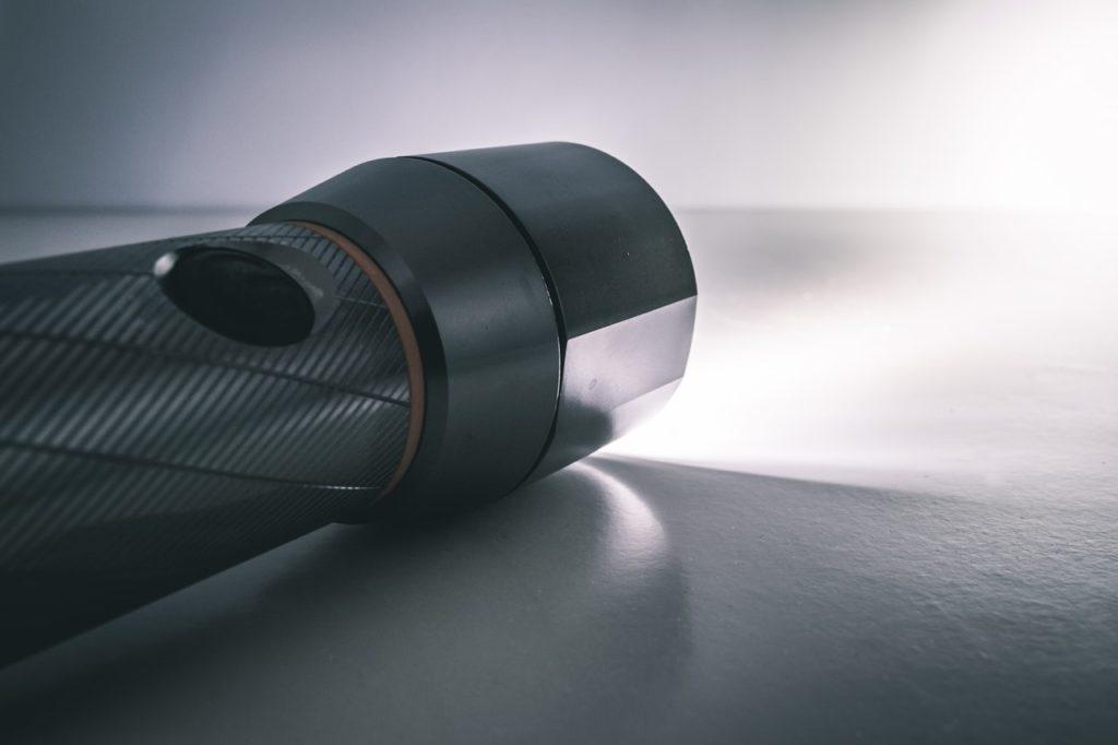flashlight light metallic