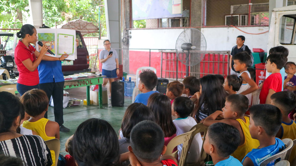 A fun story-telling of Chenelyn! Chenelyn! was also held to encourage reading among children.