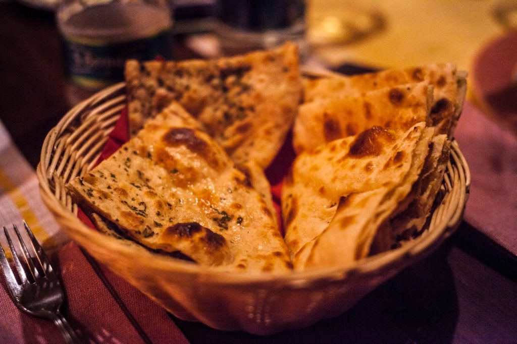 traditional indian naan flat bread