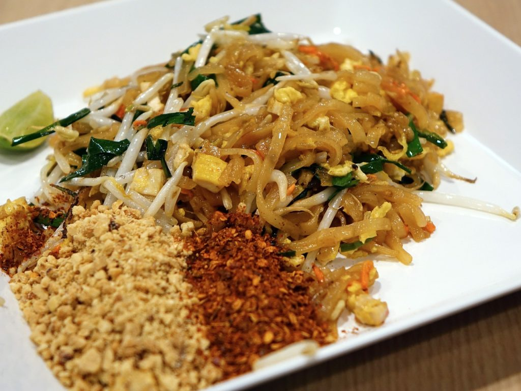 thailand vegetarian pad thai noodle dish
