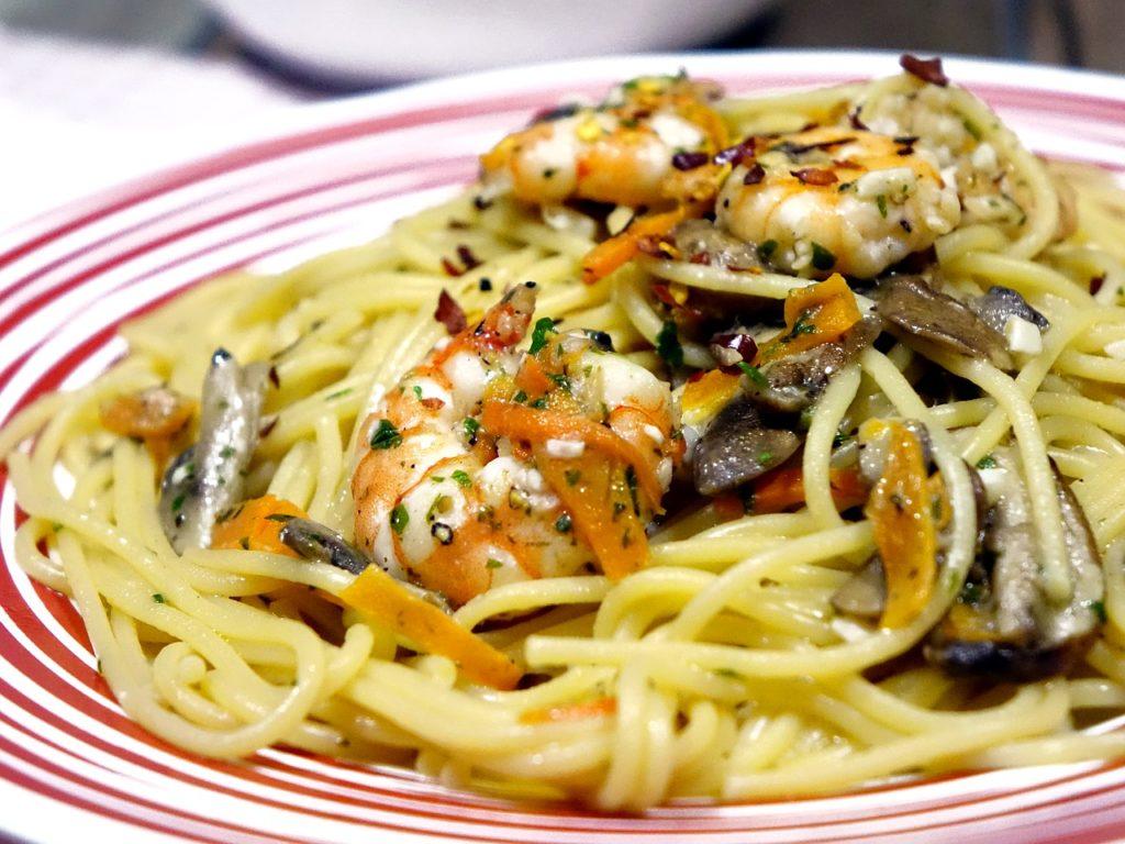 italian shrimp aglio olio