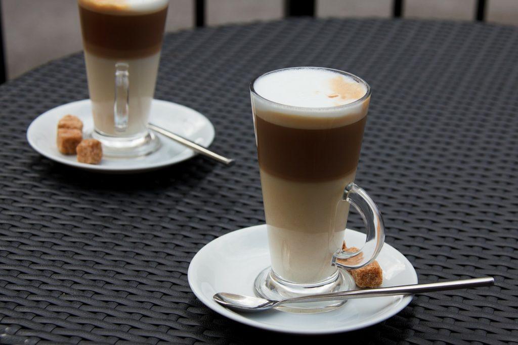 homemade coffee latte