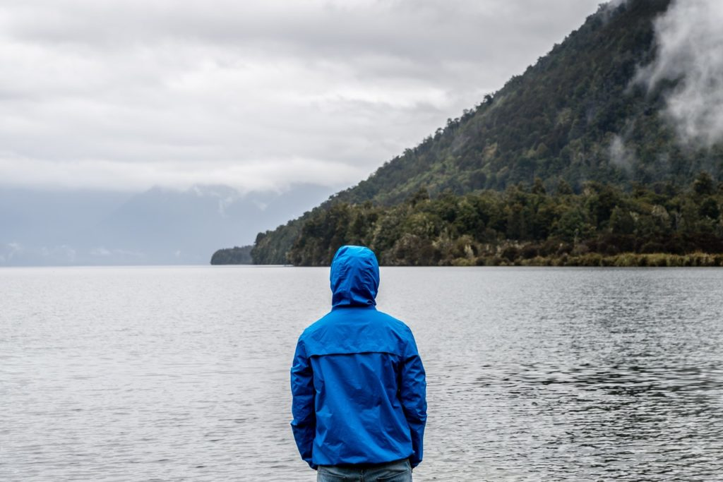 man standing ocean