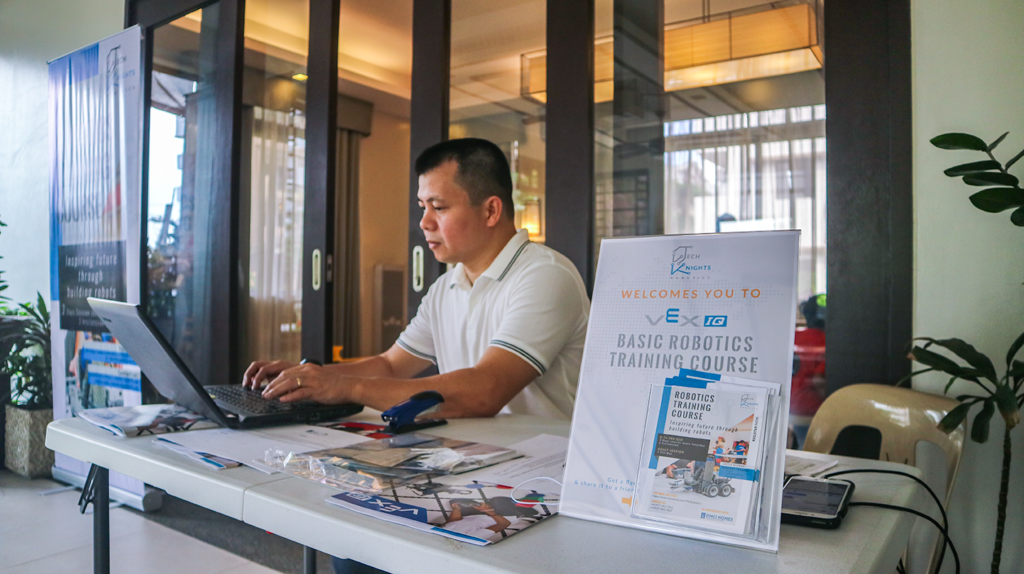 The Robotics Training Course registration area was manned by none other than TechKnights Robotics' Managing Partner, Mr. Kit Almeda.