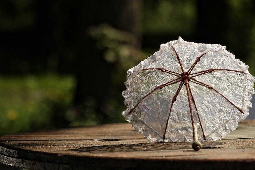 adorned parasol