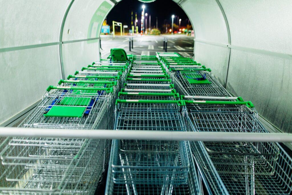 green push carts