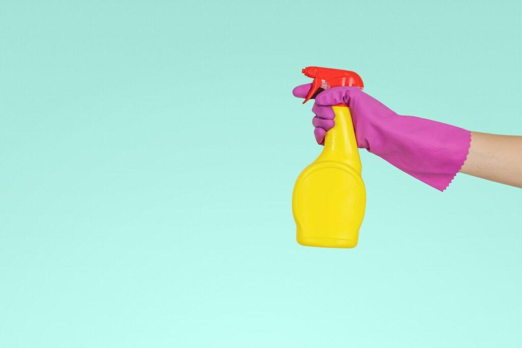 yellow spray bottle