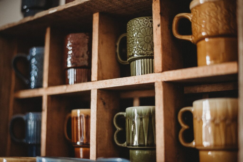 old coffee mugs